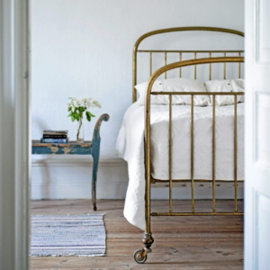 vintage metal frame on casters - Vintage Iron Bed Frames