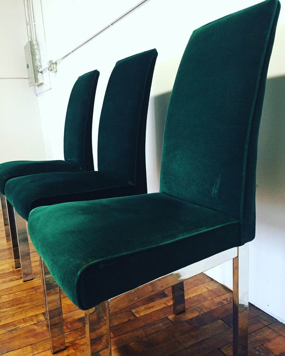 Beau Emerald Green MidCentury Parson Chair