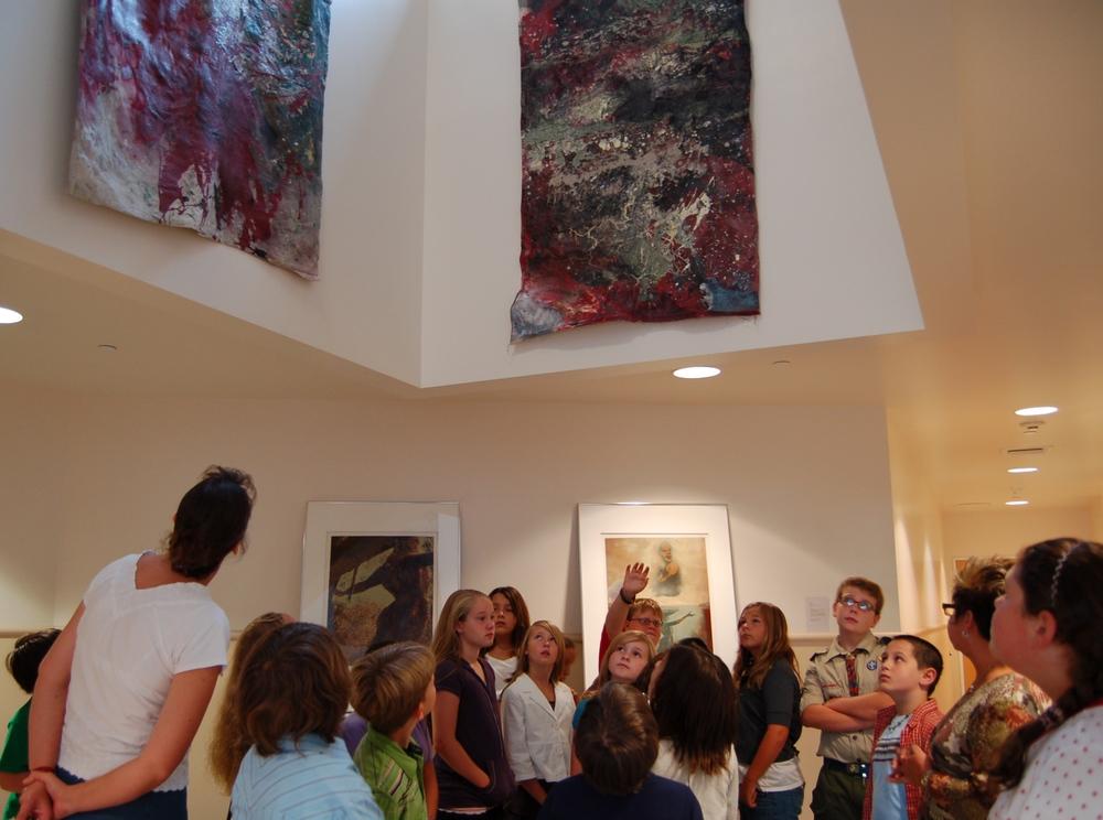 school tours with each exhibit.JPG