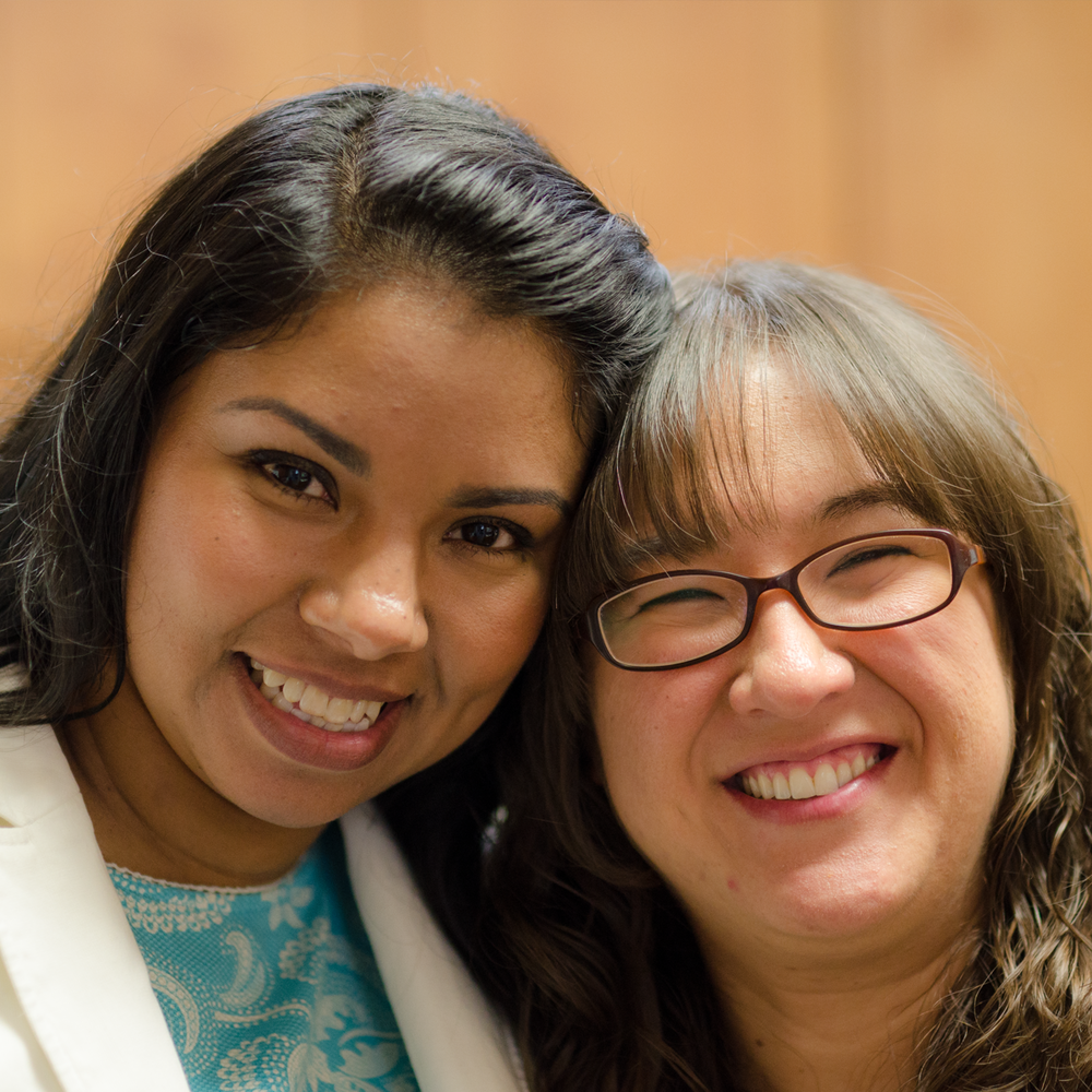 Rosa Hernandez and Lesley Fowler