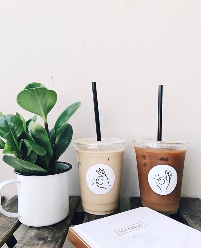 Grab an iced #almondmilklatte and watch the 🌗🌑🌒 pc: @theocdailycup