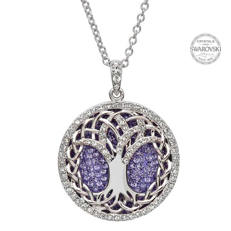 The irish boutique tree of life pendant adorned with swarovski crystals aloadofball Gallery