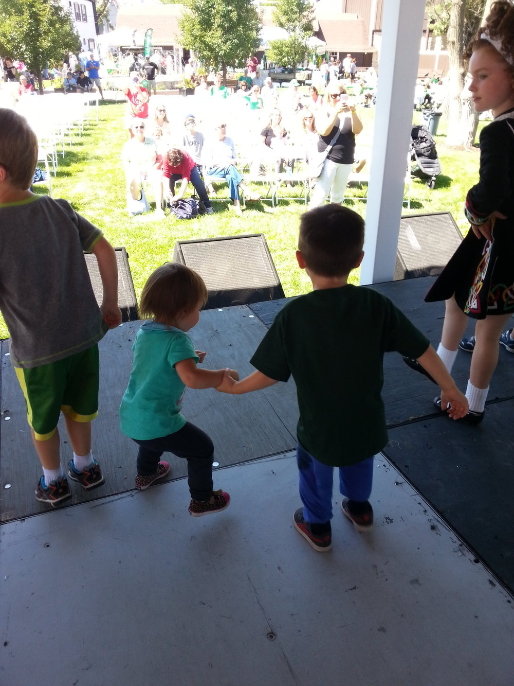 The kids loved their Irish dance lesson and watching all of the dancers perform.