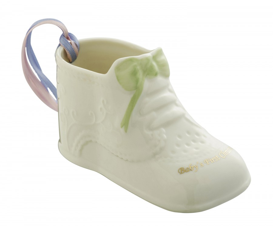 the irish boutique belleek babys first christmas ornament