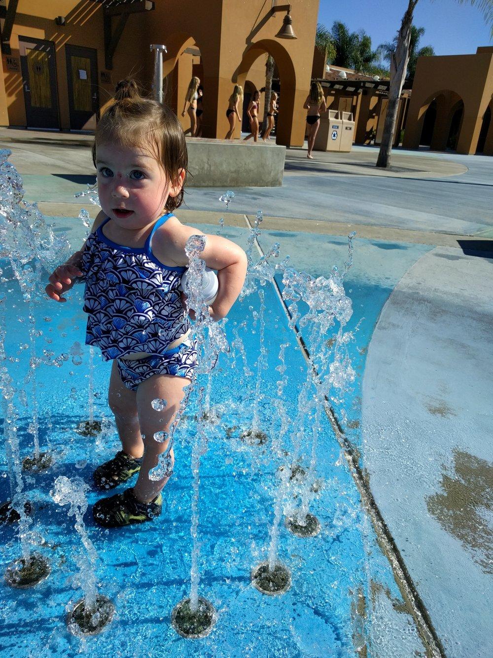 Splash pad!