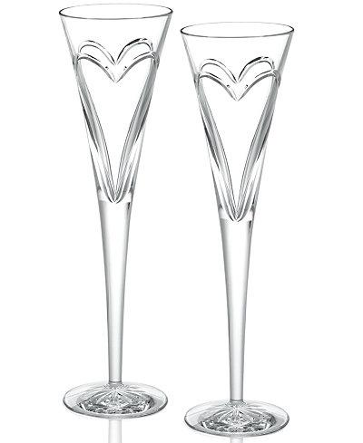 Love & Romance Toasting Flutes $135