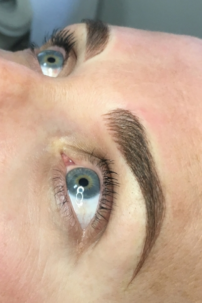 Cosmetic Tattoo - Eye Brow Feathering After