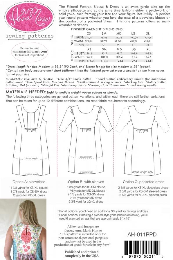 b1a33d8d2d7d Painted Portrait Blouse & Dress — Anna Maria Horner