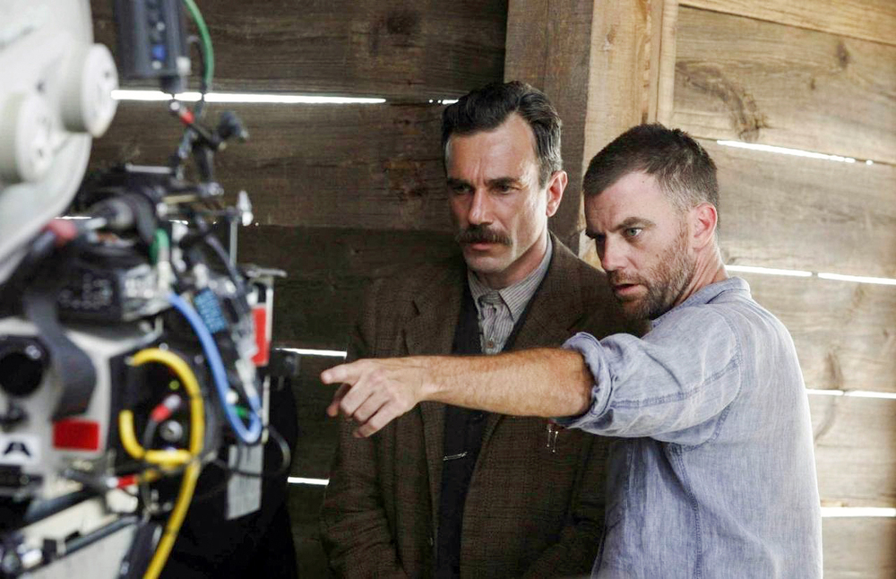 Paul Thomas Anderson directing Daniel Day Lewis on There Will Be Blood