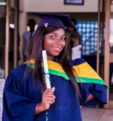 Lydia, LEAP's first education scholarship recipient; and high school graduate, Class of 2016