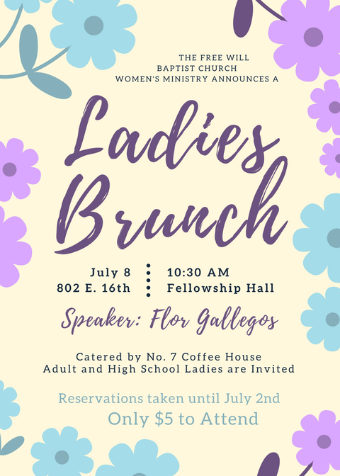 ladies brunch free will baptist church