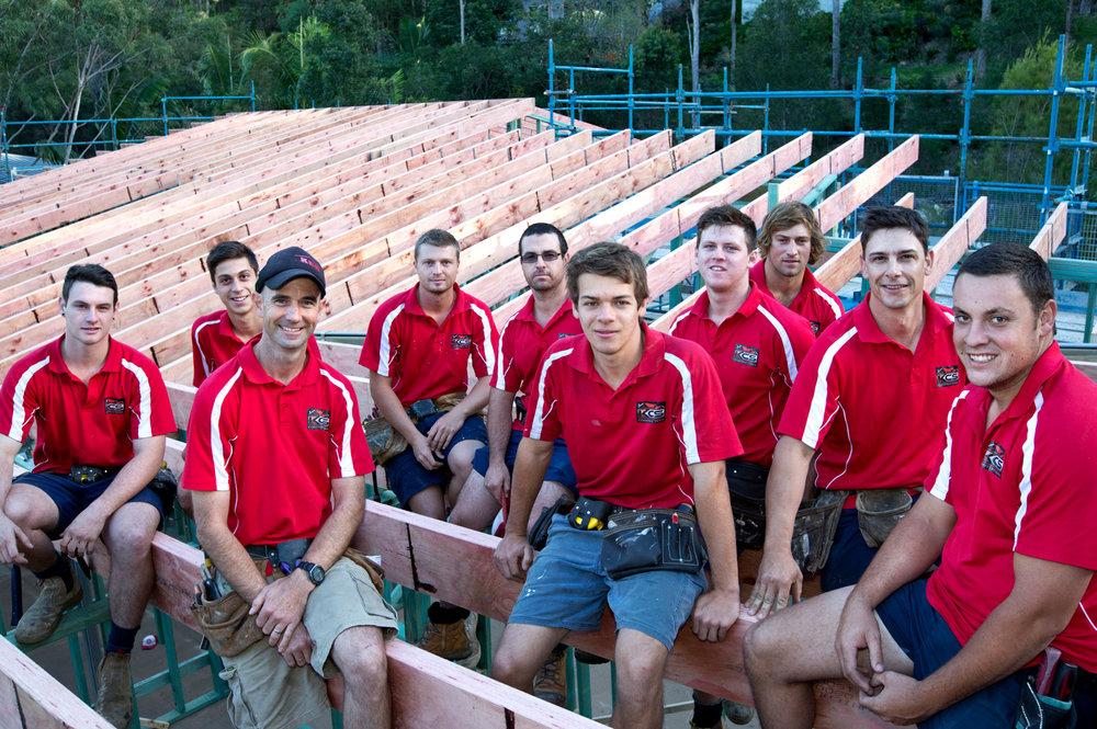 team portrait photo builders