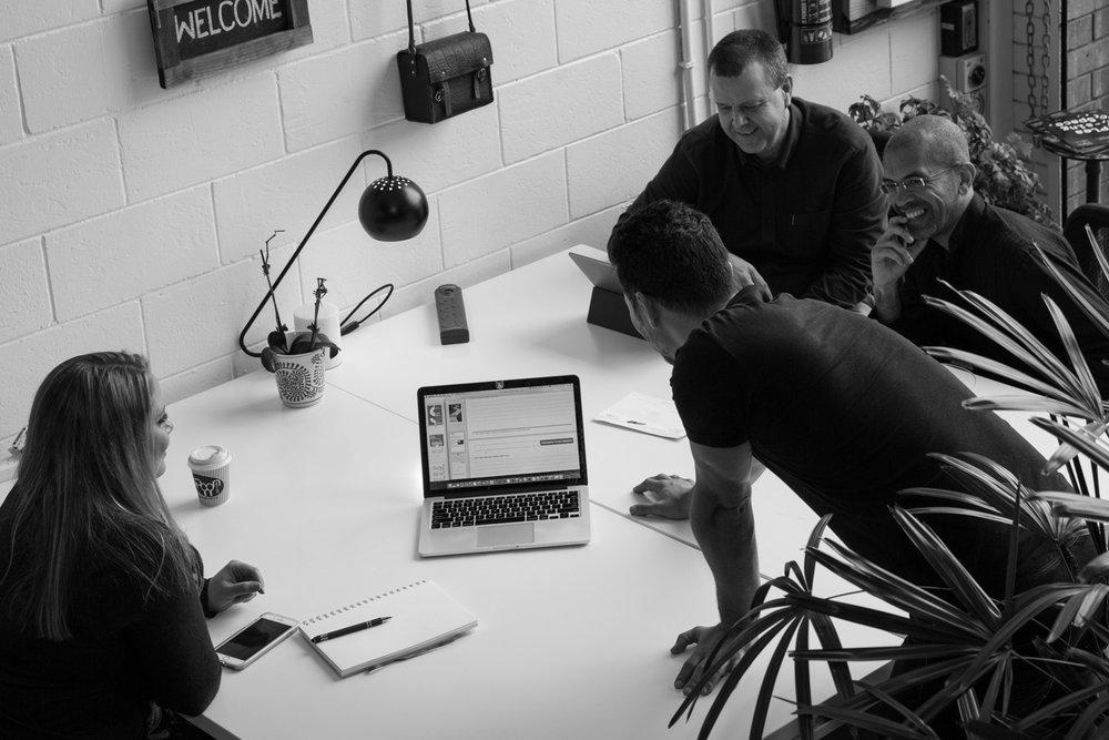 creative team meeting work place