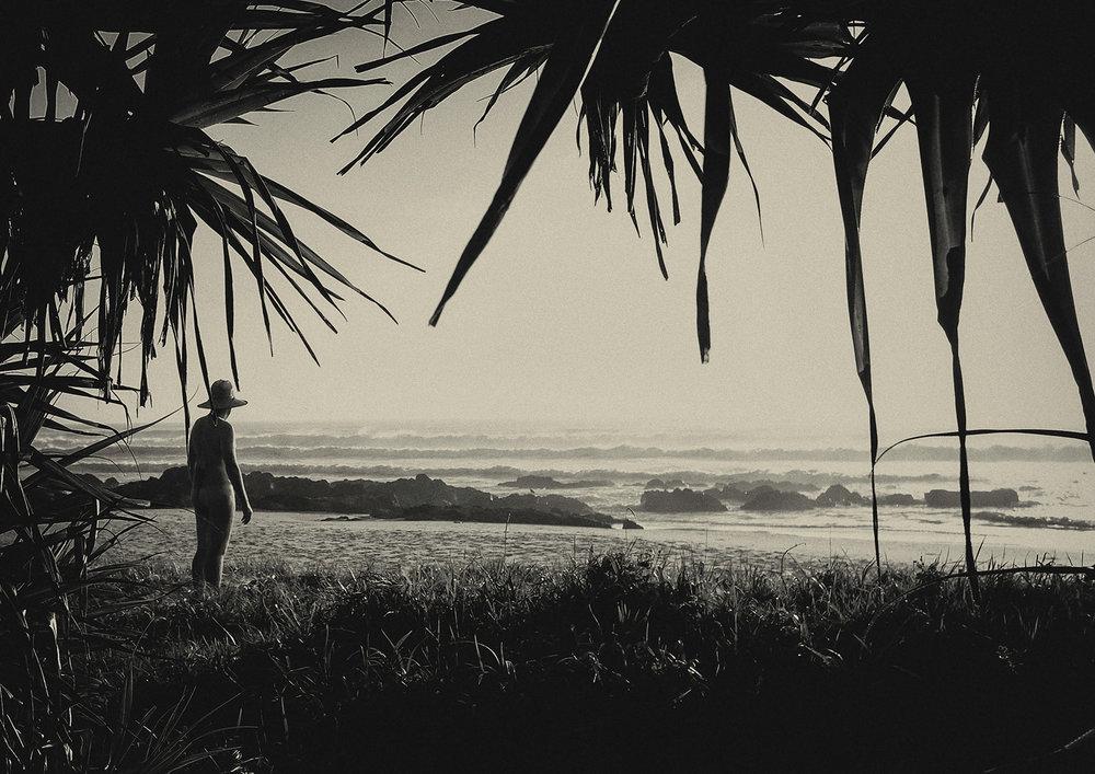 beach nude portrait