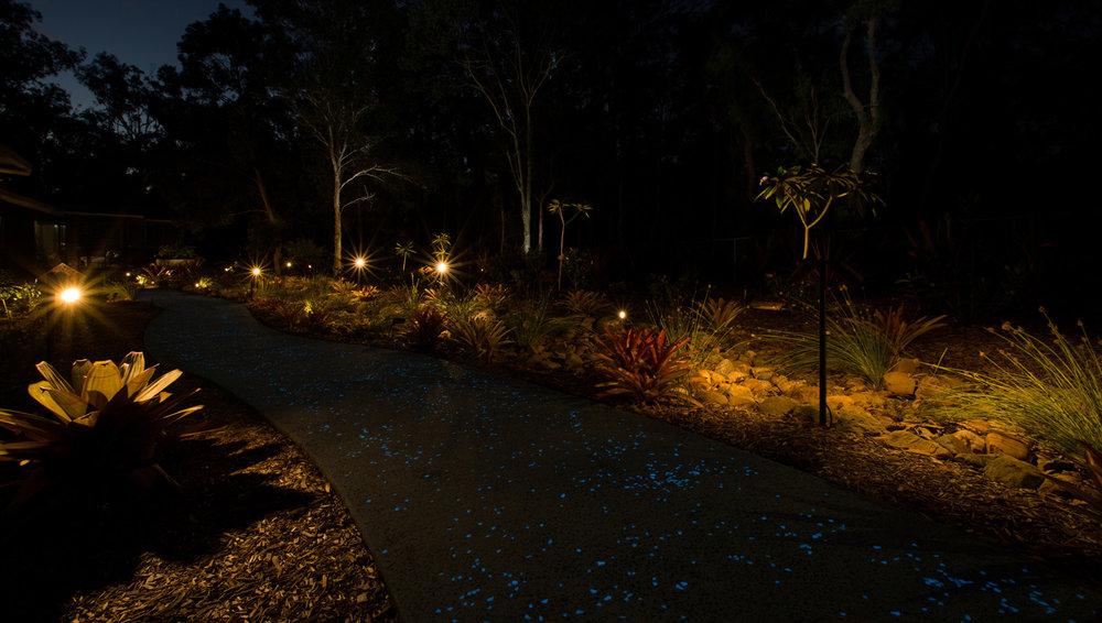 shining pathway landscape