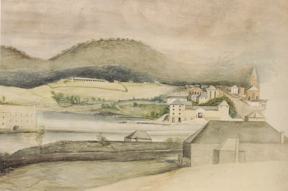 Hobart Town from the Domain 1828 – Augustus Earle