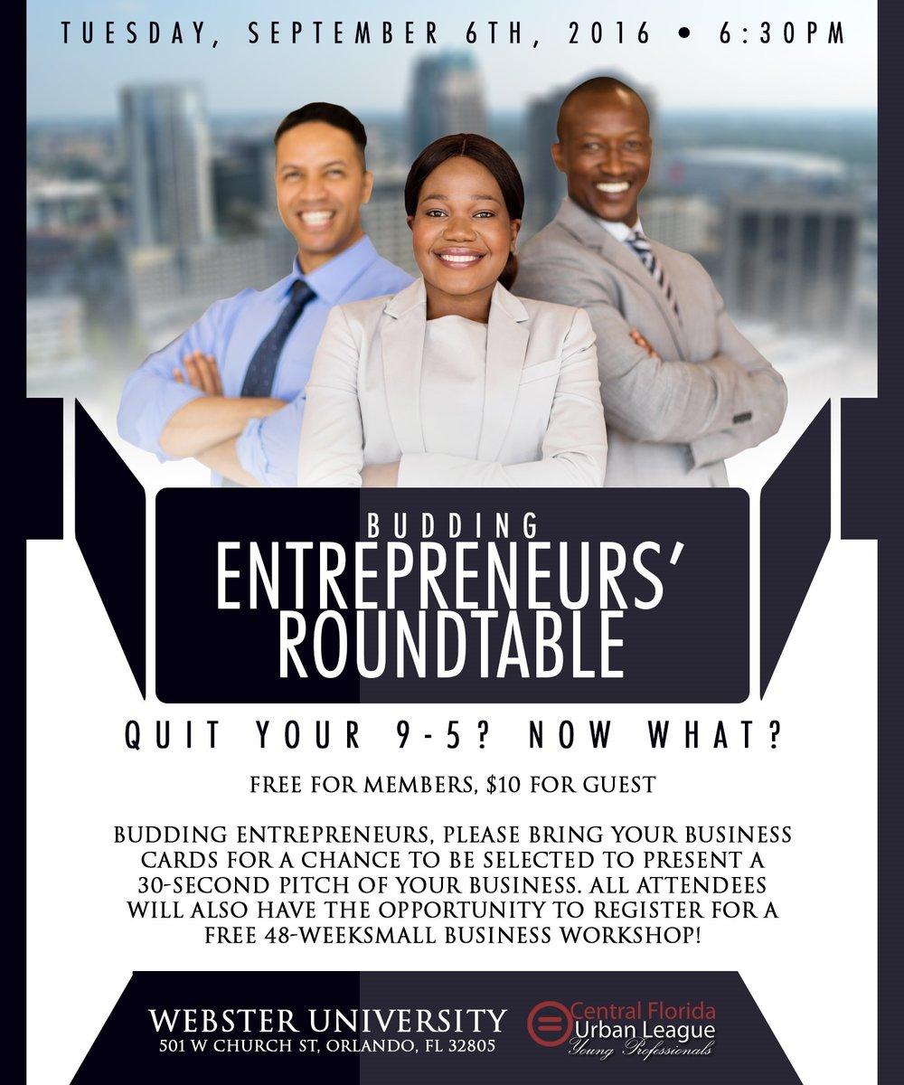Budding Entrepreneur's Roundtable