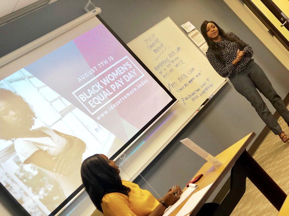 jamara wilson speaking at i deserve more for black women's equal pay day.jpg
