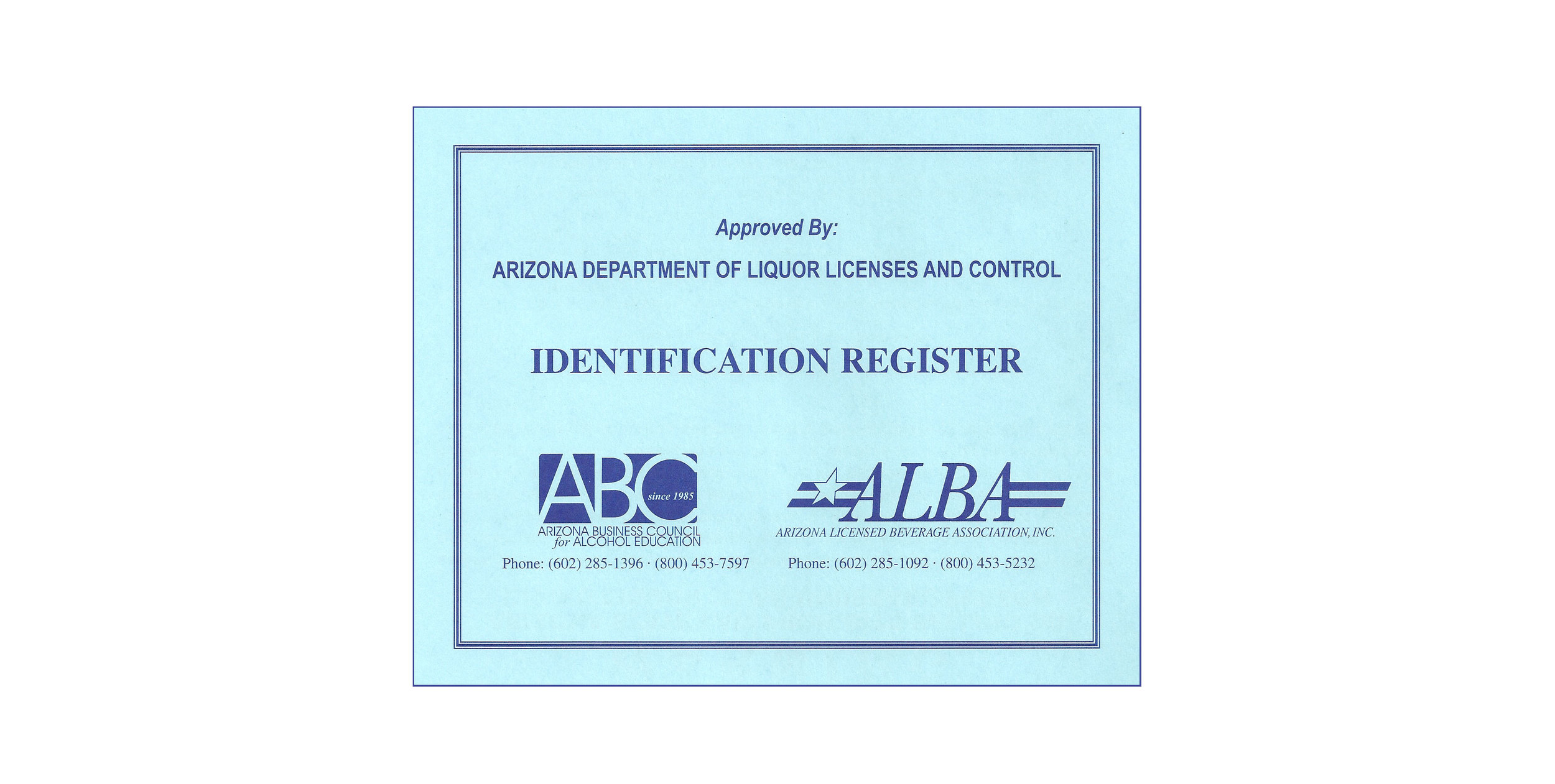 Arizona Business Council For Alcohol Education Dllc Approved Title 4