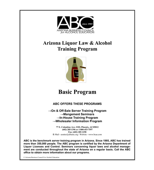 Arizona Business Council for Alcohol Education DLLC Approved Title 4 ...