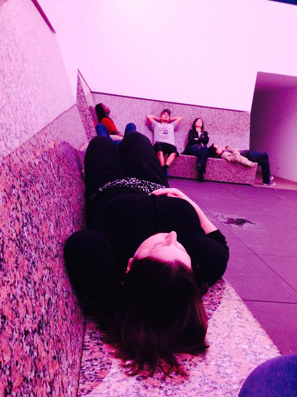 Emily experiencing exhibition