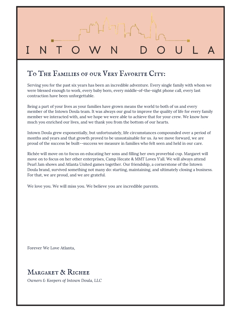 Intown Doula goodbye letter.jpg