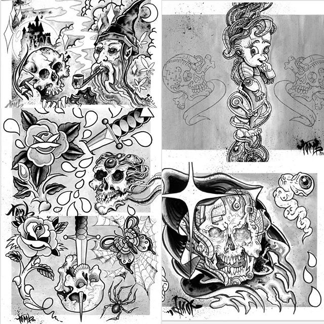 I will have a five page set of flash for sale this weekend @stlclassictattooexpo come check it out!