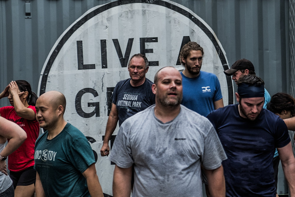 Hanley concludes another group session at CrossFit Central.