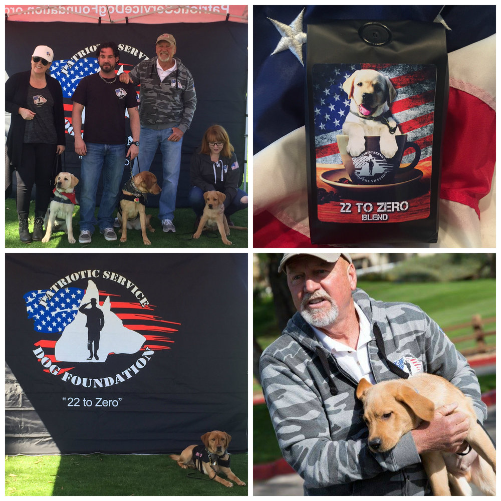 - Patriotic Service Dog Foundation Coffee Fundraising ProgramWe have partnered with The Patriotic Service Dog Foundation to help raise funds for their organization- a non-profit organization focused on serving our veterans by raising awareness for their needs and providing Service Dogs  to those who may benefit from long-term mental and physical assistance. You can support their organization by purchasing their '22 to Zero' blend fresh-roasted coffee here. Profits from every purchase are donated to their organization.