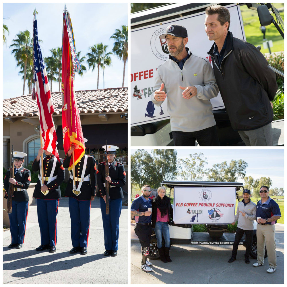 - 4 the Fallen Golf Tournament, Tijeras Creek Golf Club, RSM CAWhen we heard about the 1st annual Golf Tournament benefiting 4 The Fallen, we new we wanted to serve. We had the pleasure of pouring coffee for all the participants including host Henry DiCarlo from KTLA5 Morning News. 4 the Fallen is a grass-roots, direct impact organization managed entirely by volunteers and founded by Armed Forces veterans Jaime Fregozo (US Army SFC) and Gregorio Zayas (US Army Major). Their goal is to partner with corporations, foundations, advocacy groups, government officials and others to create funds necessary to manage critical programs and services such as Service Dog Initiatives, Family Support Services, Advanced Prosthetics, Adaptive Sports Programs and Flag Ceremonies.