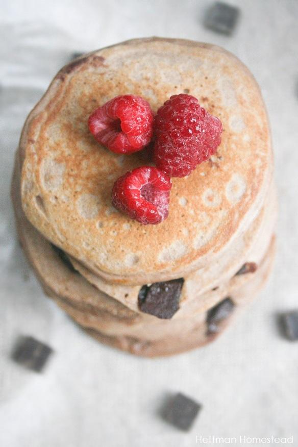 Chocolate Chunk Protein Pancakes