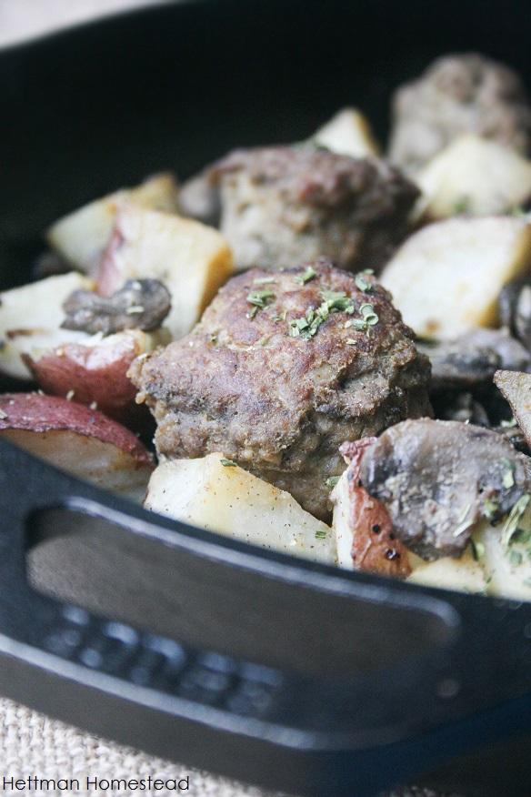 Garlic Rosemary Meatballs