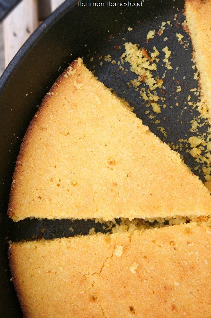 Cornbread: gluten free, dairy free