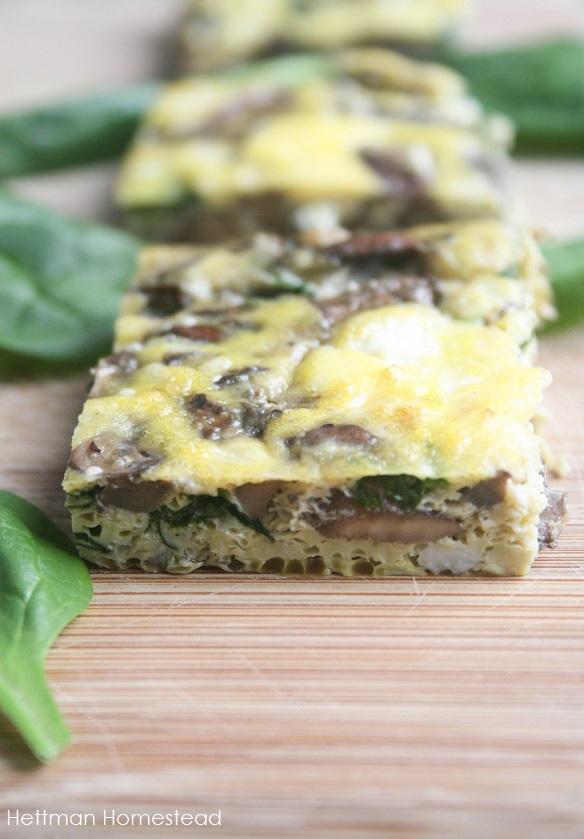 Spinach, Mushroom, & Feta Casserole