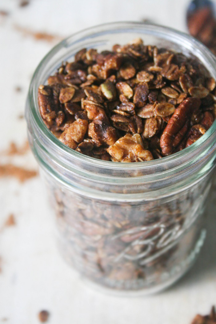 EASY Gingerbread Granola