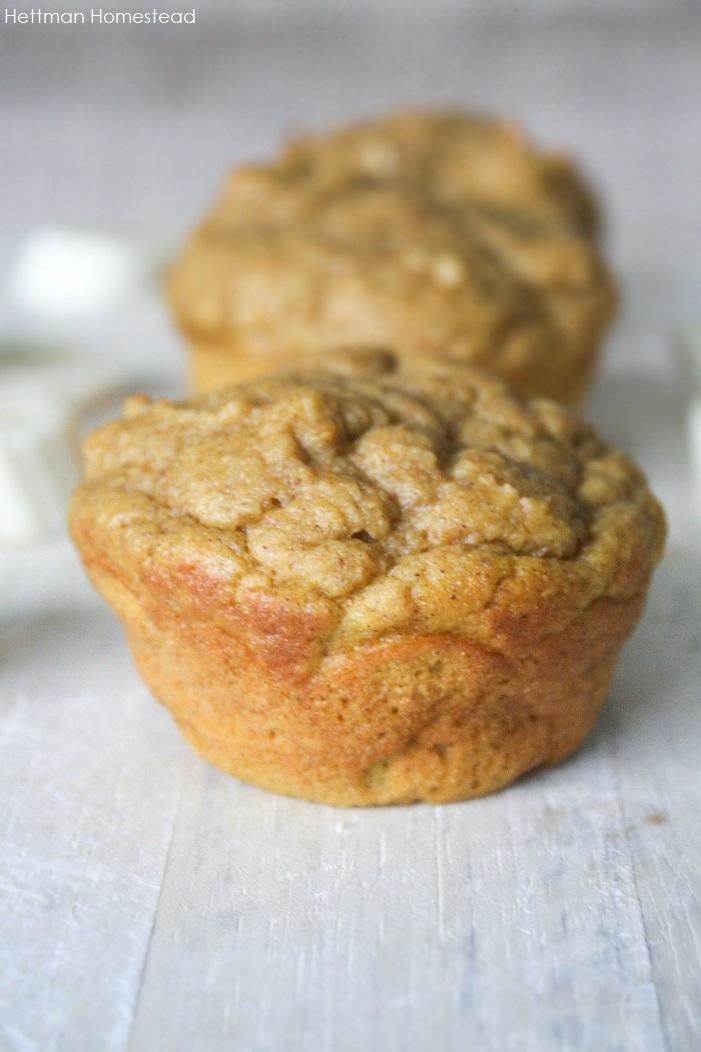 banana muffins- hettman homestead