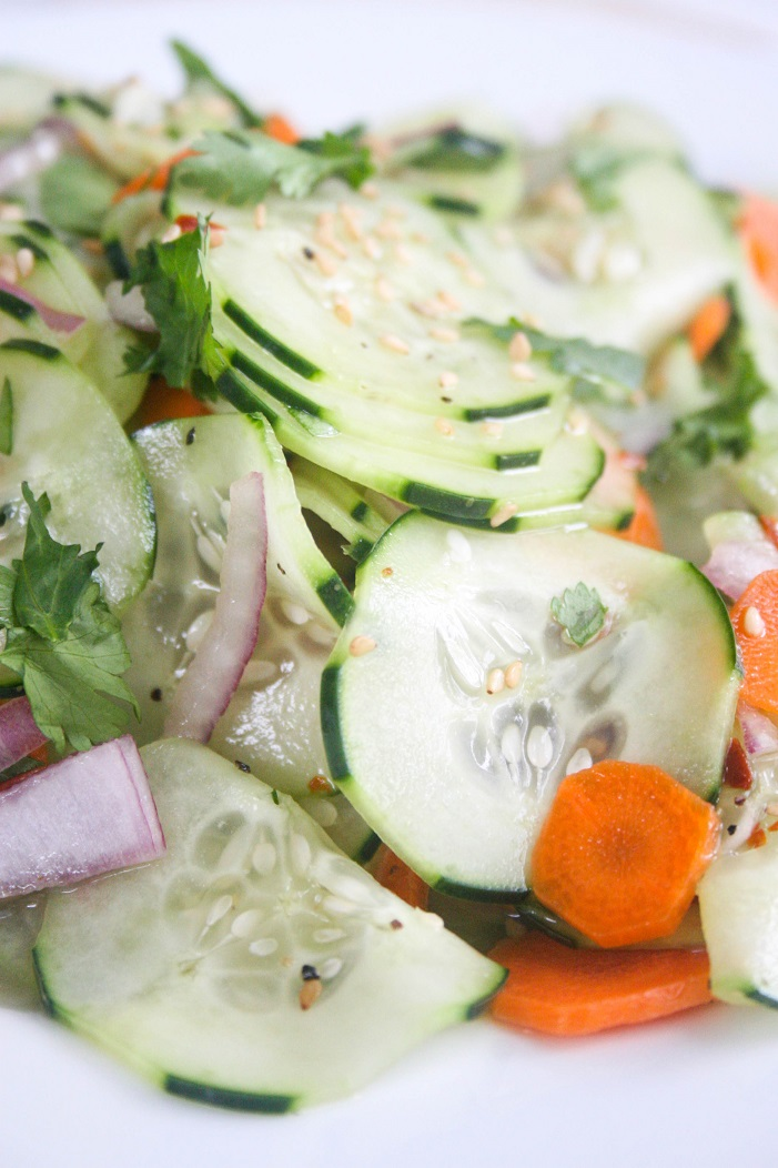 Sesame Cucumber Salad- Hettman Homestead