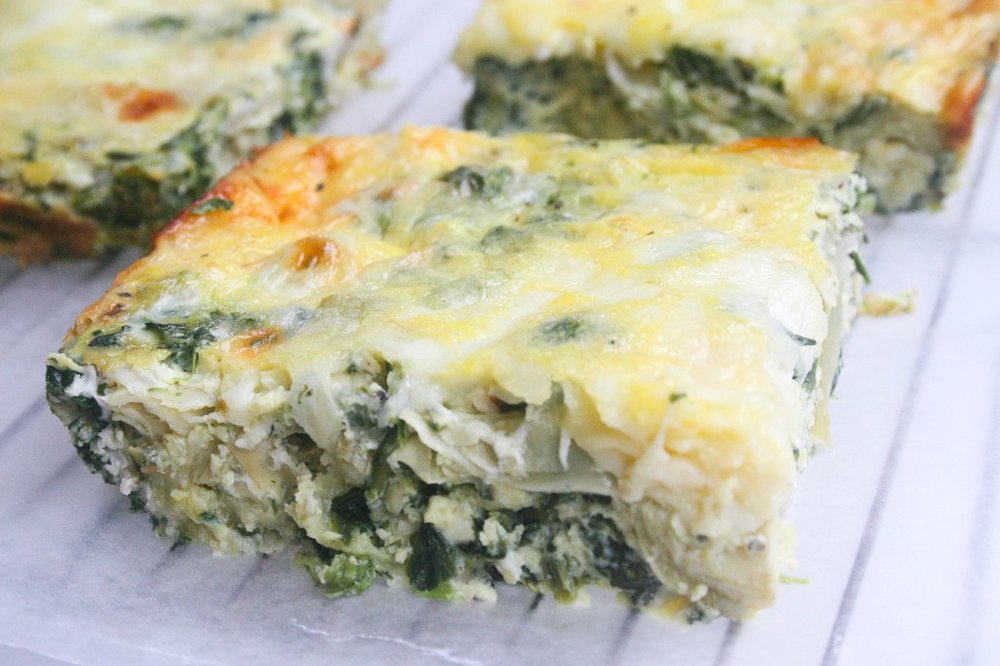 Spinach And Artichoke Breakfast Casserole- Hettman Homestead