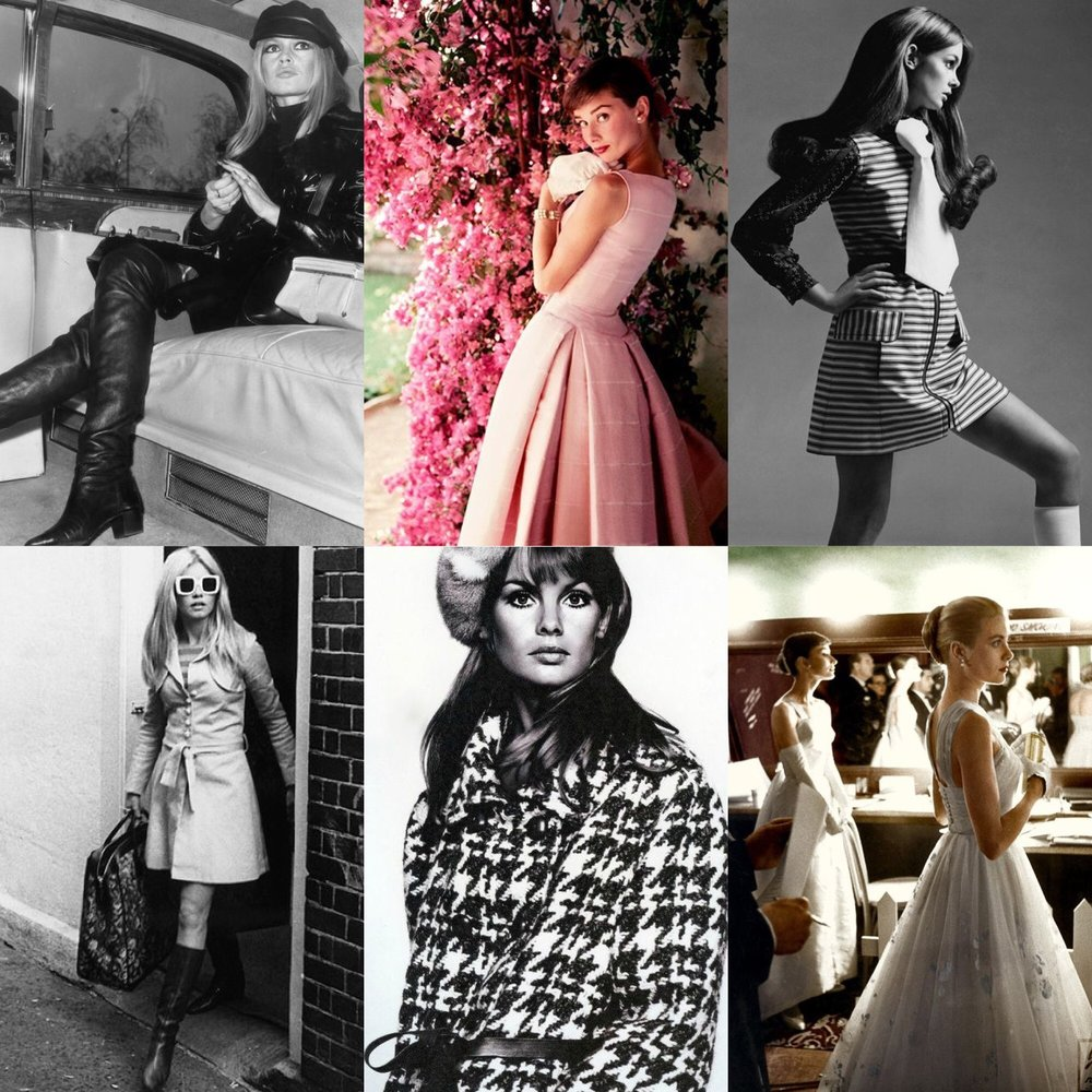 My Fashion Inspirations, Brigitte Bardot, Audrey Hepburn
