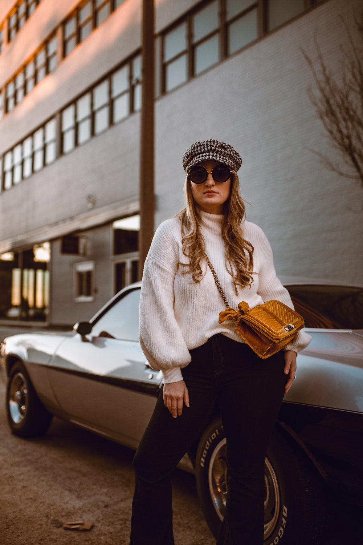 70's mod flare, knit, & velvet