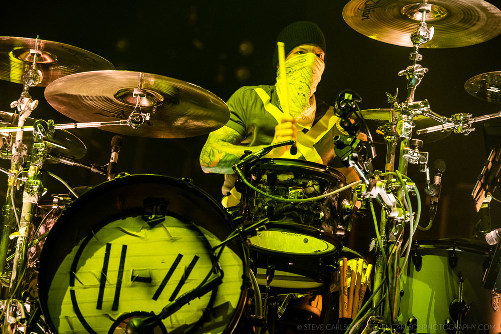Twenty One Pilots drummer Josh Dun likes to hurt drum kits