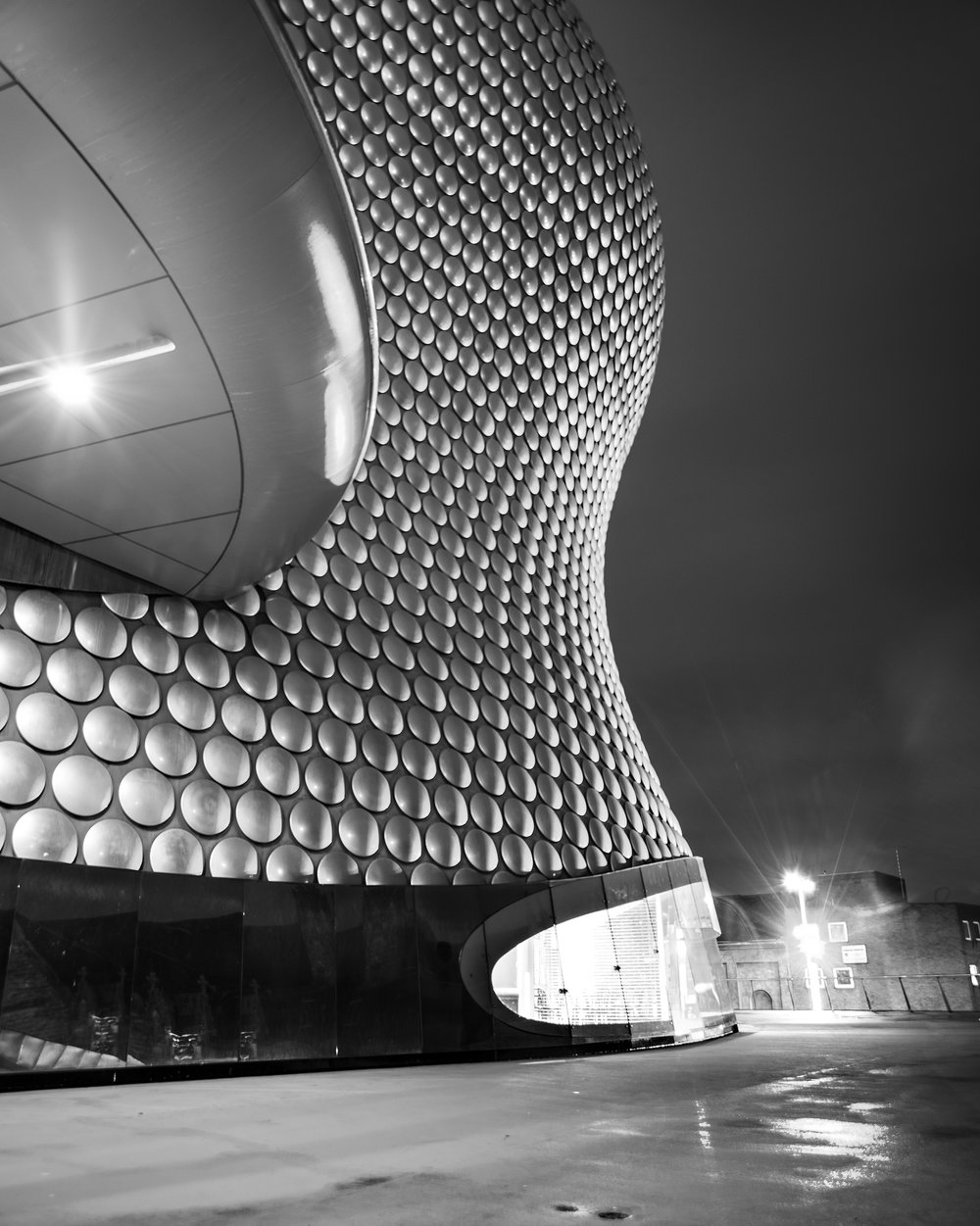 Selfridges Department Store I, Birmingham, U.K. Nikon D800 - 17-35mm f/3.5-4.5 (DX Lens, no money at that time).   The first version of this image was a questionable HDR that looked like if the mall was radioactive!