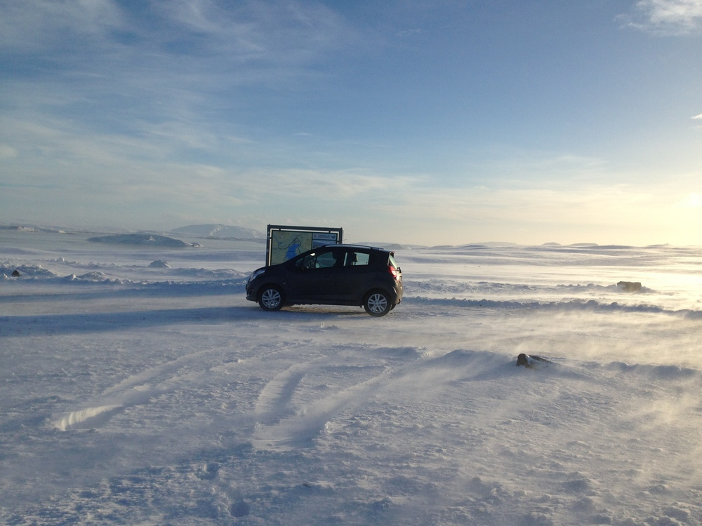 This is my rental car at a stop to look over  Thingvellir , which you can't really see in the photos but it was an AMAZING view.