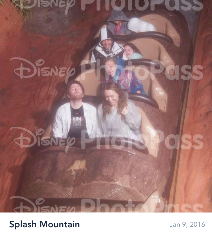 Yes I'm the girl peeing her pants in the second row. My brother and his girlfriend are the ones in the front. I spared no time the whole week and we made it through all four parks!