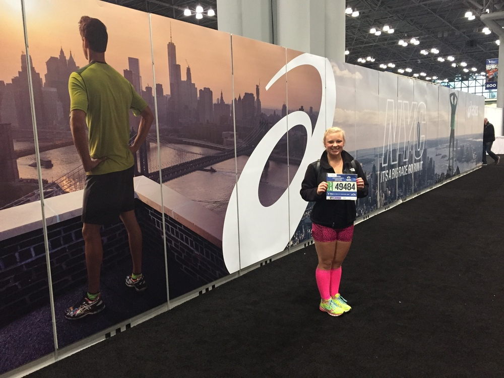 At the New York Marathon Expo!