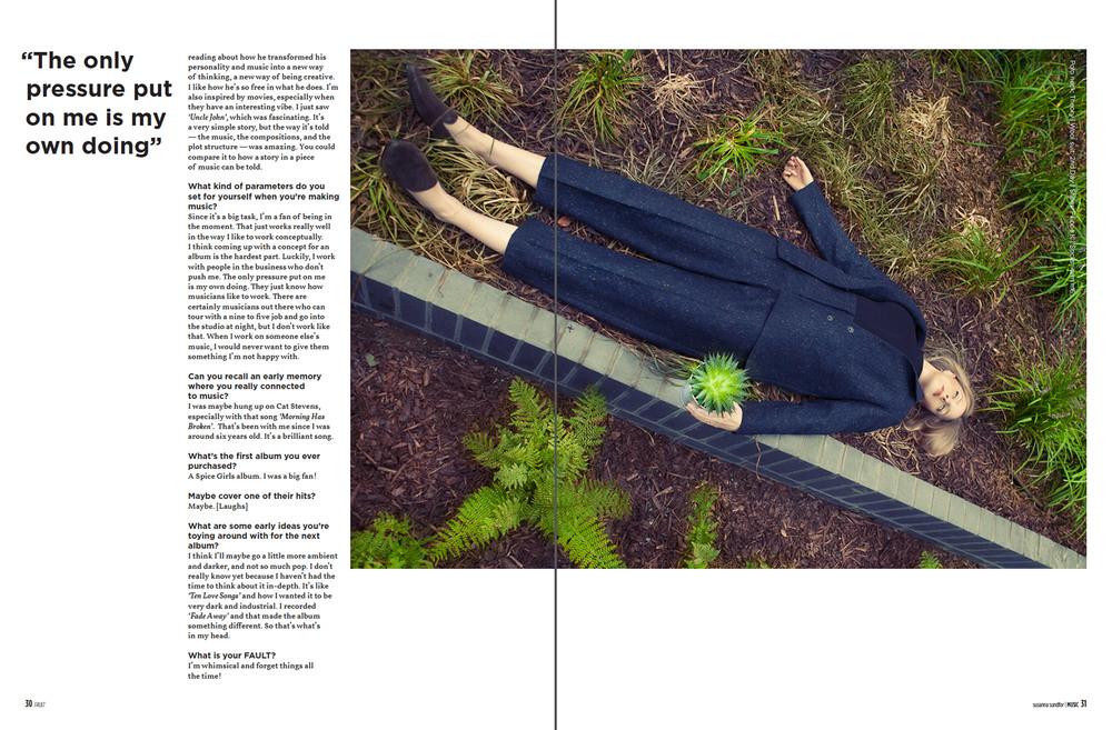 Susanne Sundfør for Fault Magazine