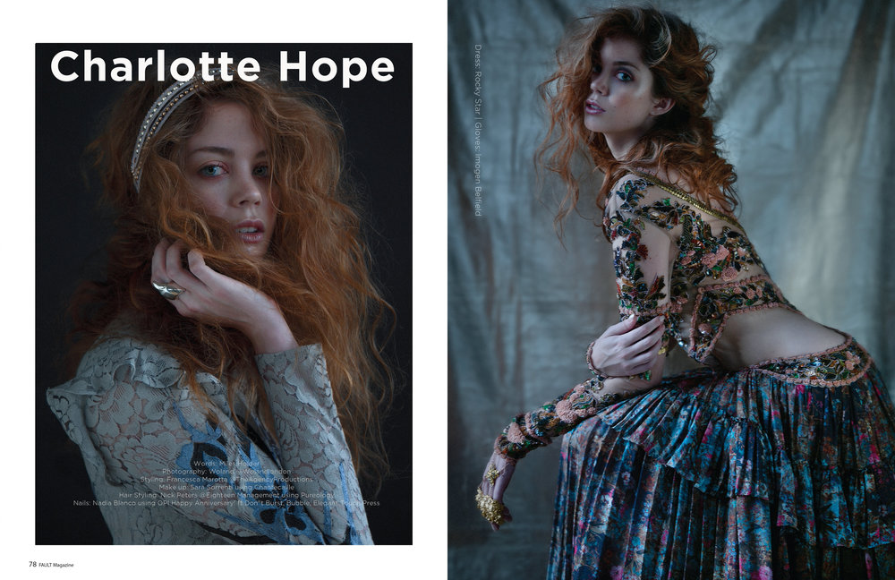 Game of Throne's Charlotte Hope for Fault Magazine