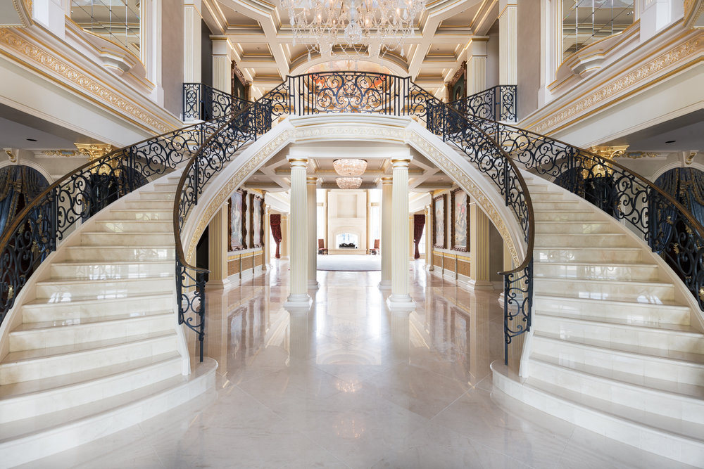 Doesn't get much grander for a staircase!