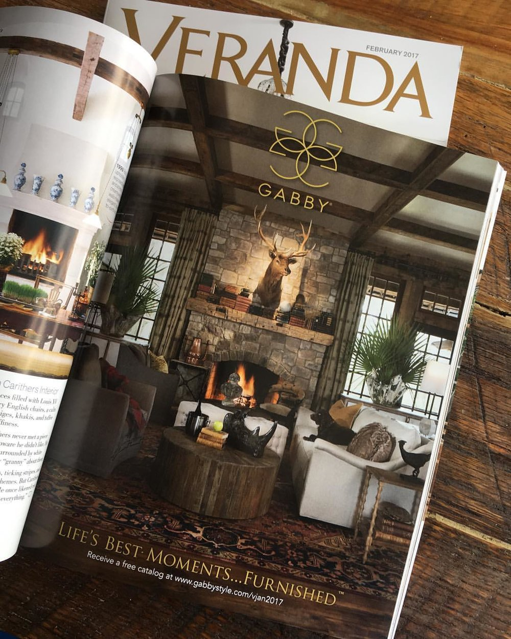 The finished product in the February 2017 Issue of Veranda Magazine.