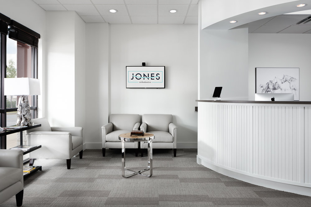 Jones Orthodontics - Interior of orthodontics practice in Pelham Alabama